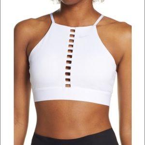 Nike Indy Lattice Dri Fit Sports Bra White XS